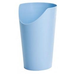 verre classique, paille, ergo avec bec verseur, pour malade, à découpe nasal, handicup